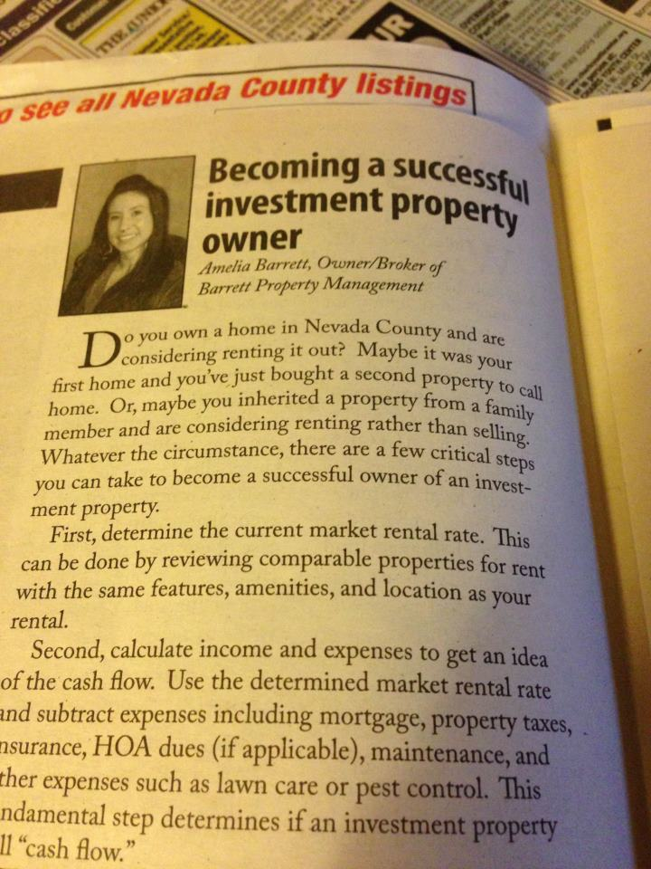 Showcase 2/28/13 Article regarding Real Estate and Investment