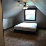 The 1-bedroom is located upstairs and includes Cal-King bed